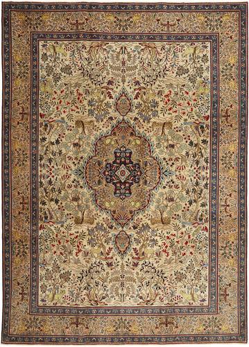 Noué à la main. Origine: Persia / Iran Tapis D'orient Tabriz Patina 245X345 Marron Clair/Marron (Laine, Perse/Iran)