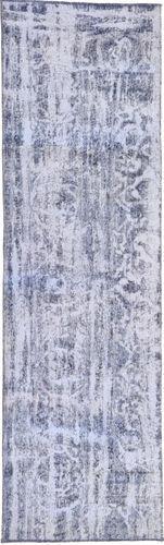 Noué à la main. Origine: Persia / Iran Tapis Persan Colored Vintage 70X263 Tapis Couloir Violet Clair/Gris Clair (Laine, Perse/Iran)