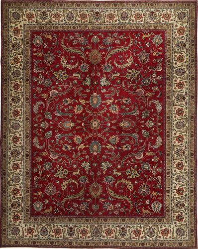 Noué à la main. Origine: Persia / Iran Tapis D'orient Tabriz Patina 304X380 Rouge Foncé/Marron Foncé/Marron Clair Grand (Laine, Perse/Iran)
