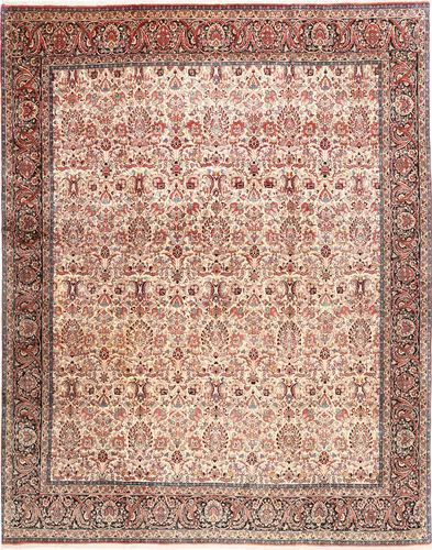 Noué à la main. Origine: Persia / Iran 305X380 Tapis Bidjar D'orient Fait Main Marron Clair/Rouge Foncé/Beige Grand (Laine, Perse/Iran)