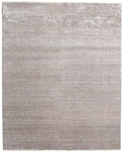 Noué à la main. Origine: India Tapis Himalaya Bambou Soie 247X310 Gris Clair ( Inde)