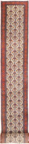 Noué à la main. Origine: Persia / Iran Tapis Fait Main Koliai 95X970 Tapis Couloir Rouge Foncé/Marron Foncé (Laine, Perse/Iran)