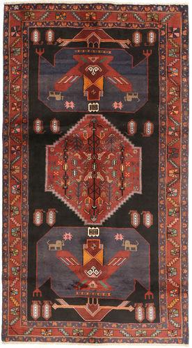 Noué à la main. Origine: Persia / Iran Tapis D'orient Kurdi 147X270 Rouge Foncé/Noir (Laine, Perse/Iran)