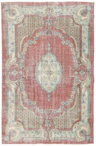 Noué à la main. Origine: Turkey Tapis Fait Main Colored Vintage 172X266 Gris Clair/Rose Clair (Laine, Turquie)