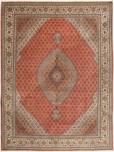 Noué à la main. Origine: Persia / Iran 300X405 Tapis Tabriz 40 Raj D'orient Fait Main Marron/Gris Clair Grand (Laine/Soie, Perse/Iran)