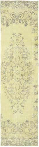 Noué à la main. Origine: Turkey 81X315 Tapis Colored Vintage Moderne Fait Main Tapis Couloir Jaune/Beige (Laine, Turquie)