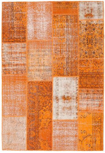 Noué à la main. Origine: Turkey Tapis Fait Main Patchwork 162X237 Orange/Rose Clair (Laine, Turquie)