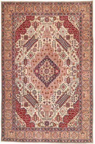 Noué à la main. Origine: Persia / Iran Tapis Persan Tabriz Patina 195X300 Marron Clair/Rose Clair (Laine, Perse/Iran)