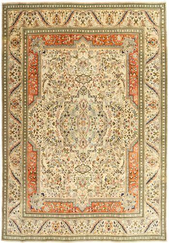 Noué à la main. Origine: Persia / Iran Tapis D'orient Tabriz Patina 270X379 Beige Foncé/Beige/Marron Clair Grand (Laine, Perse/Iran)