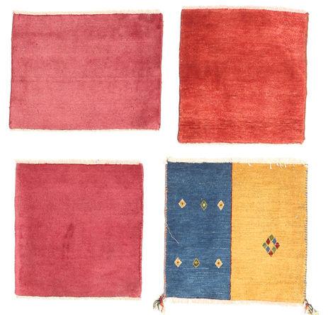 Noué à la main. Origine: Persia / Iran 40X40 Tapis Gabbeh Persan Moderne Fait Main Rouge/Rose (Laine, Perse/Iran)