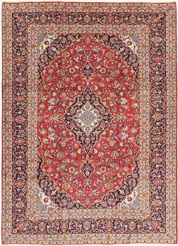 Noué à la main. Origine: Persia / Iran 245X345 Tapis Kashan D'orient Fait Main Rouge Foncé/Rose Clair (Laine, Perse/Iran)