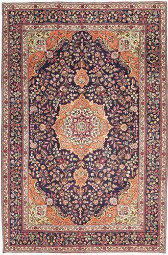Noué à la main. Origine: Persia / Iran Tapis D'orient Tabriz Patina 224X340 Marron Foncé/Marron Clair (Laine, Perse/Iran)