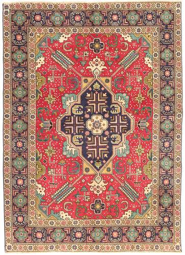 Noué à la main. Origine: Persia / Iran 138X190 Tapis D'orient Tabriz Patina Marron Clair/Rouille/Rouge (Laine, Perse/Iran)
