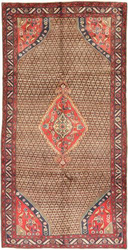 Noué à la main. Origine: Persia / Iran 150X295 Tapis Koliai D'orient Fait Main Tapis Couloir Rouge Foncé/Marron (Laine, Perse/Iran)