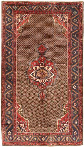 Noué à la main. Origine: Persia / Iran Tapis Fait Main Koliai 150X266 Marron Foncé/Rouge Foncé (Laine, Perse/Iran)