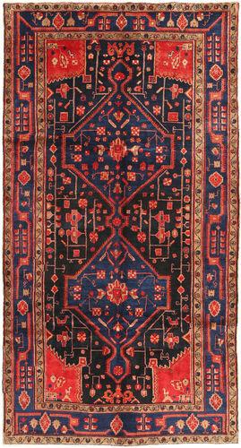 Noué à la main. Origine: Persia / Iran 156X293 Tapis Koliai D'orient Fait Main Tapis Couloir Rouge Foncé/Gris Foncé (Laine, Perse/Iran)