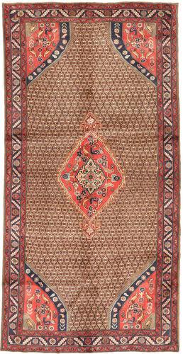 Noué à la main. Origine: Persia / Iran Tapis Koliai 148X291 Tapis Couloir Rouge Foncé/Marron (Laine, Perse/Iran)
