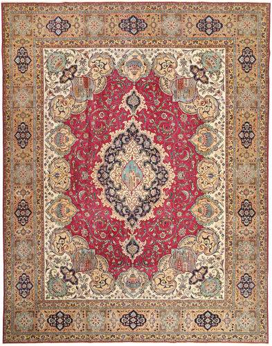 Noué à la main. Origine: Persia / Iran Tapis D'orient Tabriz Patina 335X424 Marron Clair/Rouge Foncé Grand (Laine, Perse/Iran)