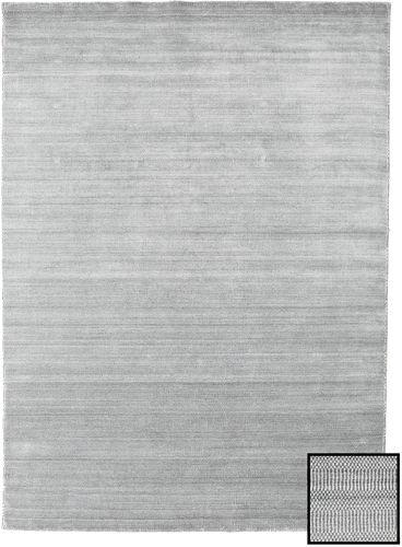 Noué à la main. Origine: Turkey Tapis Bambou Grass - Gris 210X290 Gris Clair (Laine/Soie De Bambou, Turquie)