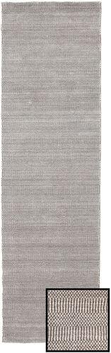 Noué à la main. Origine: Turkey 80X290 Tapis Bambou Grass - Beige Moderne Tapis Couloir Gris Clair (Laine/Soie De Bambou,turquie)