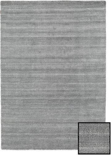 Noué à la main. Origine: Turkey 160X230 Tapis Bambou Grass - Black_ Gris Moderne Gris Clair/Gris Foncé (Laine/Soie De Bambou,turquie)