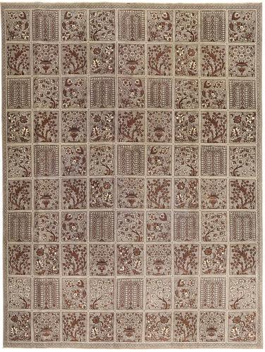 Noué à la main. Origine: Persia / Iran Tapis D'orient Tabriz Patina 270X364 Gris Clair/Marron Grand (Laine, Perse/Iran)