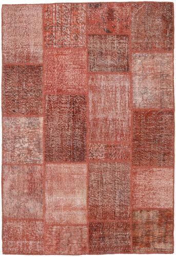 Noué à la main. Origine: Turkey Tapis Fait Main Patchwork 158X232 Rouge Foncé/Rose Clair (Laine, Turquie)
