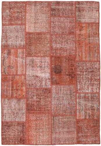 Noué à la main. Origine: Turkey Tapis Fait Main Patchwork 156X228 Rouge Foncé/Rose Clair (Laine, Turquie)
