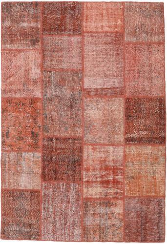 Noué à la main. Origine: Turkey Tapis Fait Main Patchwork 159X232 Rouge Foncé/Rose Clair (Laine, Turquie)
