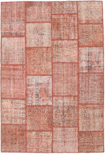 Noué à la main. Origine: Turkey Tapis Fait Main Patchwork 158X232 Rose Clair/Rouge Foncé (Laine, Turquie)