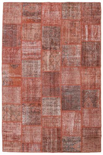 Noué à la main. Origine: Turkey Tapis Patchwork 198X301 Rouge Foncé/Rose Clair (Laine, Turquie)