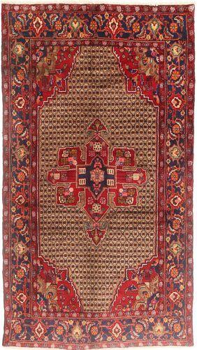 RugVista Tapis Fait Main Koliai 150X275 Tapis Couloir Rouge Foncé/Marron Clair (Laine, Perse/Iran)