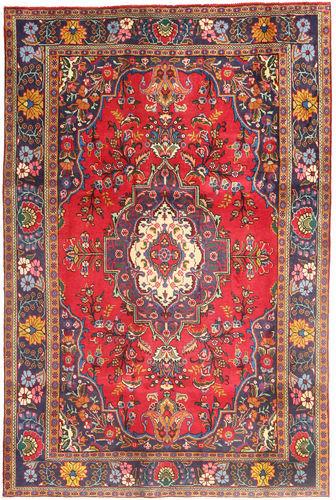 Noué à la main. Origine: Persia / Iran Tapis Fait Main Tabriz 200X294 Rouge Foncé/Rose (Laine, Perse/Iran)