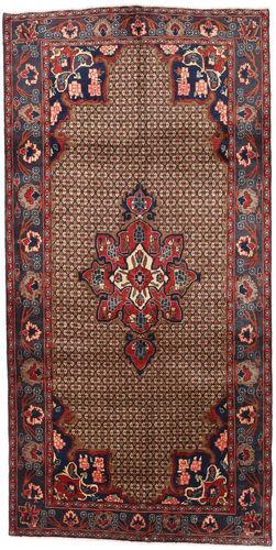 Noué à la main. Origine: Persia / Iran Tapis D'orient Koliai 145X287 Tapis Couloir Marron Foncé/Rouge Foncé (Laine, Perse/Iran)