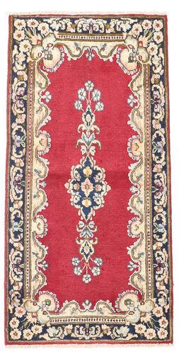 Noué à la main. Origine: Persia / Iran Tapis Fait Main Kerman 60X118 Rose Clair/Gris Foncé (Laine, Perse/Iran)