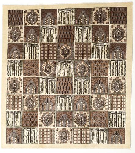 Noué à la main. Origine: Persia / Iran 240X265 Tapis Tabriz D'orient Fait Main Beige/Gris Clair (Laine, Perse/Iran)