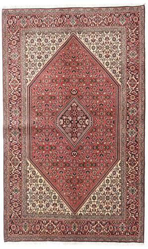 Noué à la main. Origine: Persia / Iran Tapis Fait Main Bidjar 138X225 Marron Foncé/Rose Clair (Laine, Perse/Iran)