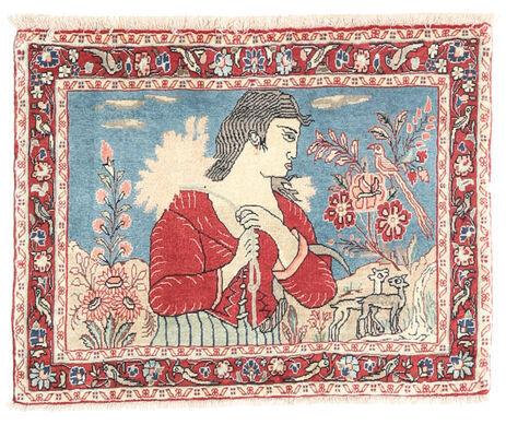 Noué à la main. Origine: Persia / Iran Tapis D'orient Bidjar 70X90 Rose Clair/Rouille/Rouge (Laine, Perse/Iran)