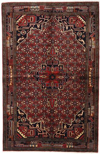 Noué à la main. Origine: Persia / Iran 155X235 Tapis Koliai D'orient Fait Main Marron Foncé/Rouge Foncé (Laine, Perse/Iran)