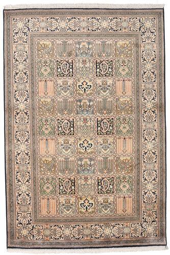 Noué à la main. Origine: India Tapis D'orient Cachemire Pure Soie 124X185 Gris Clair/Beige (Soie, Inde)