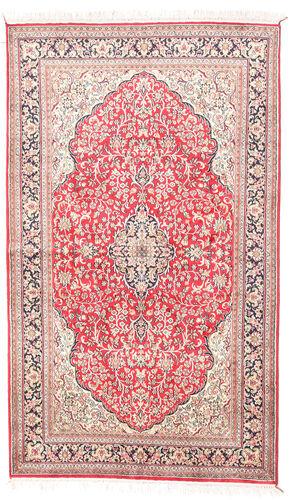 Noué à la main. Origine: India 92X154 Tapis Cachemire Pure Soie D'orient Fait Main Beige/Rose Clair (Soie, Inde)