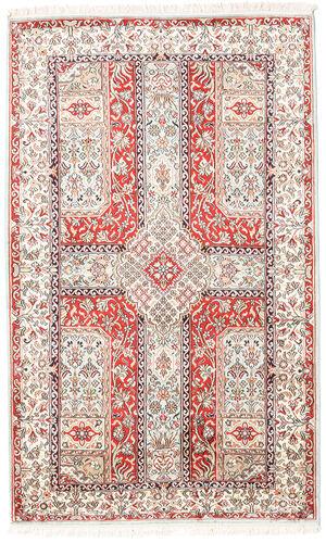 Noué à la main. Origine: India 96X157 Tapis D'orient Cachemire Pure Soie Beige/Gris Clair (Soie, Inde)