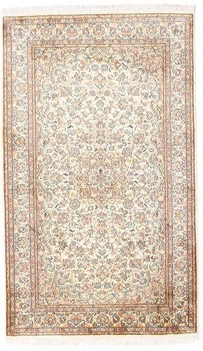 Noué à la main. Origine: India 92X153 Tapis D'orient Cachemire Pure Soie Blanc/Crème/Gris Clair (Soie, Inde)