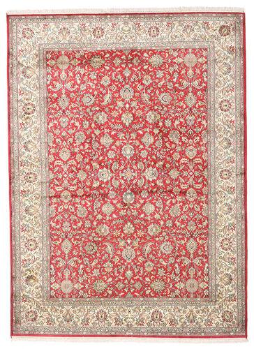 Noué à la main. Origine: India Tapis D'orient Cachemire Pure Soie 158X216 Beige/Gris Clair (Soie, Inde)