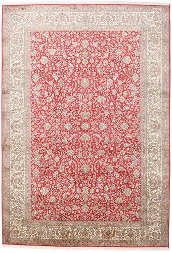 Noué à la main. Origine: India 216X311 Tapis D'orient Cachemire Pure Soie Rose Clair/Gris Clair (Soie, Inde)