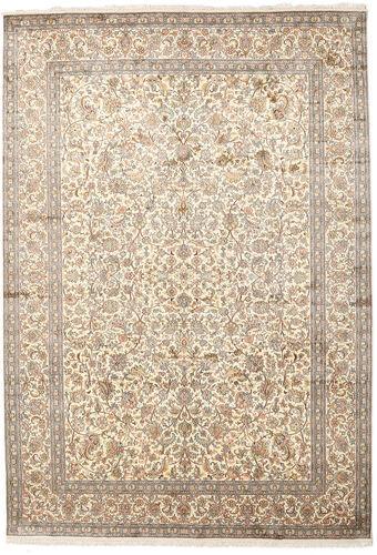 Noué à la main. Origine: India 220X315 Tapis D'orient Cachemire Pure Soie Gris Clair/Beige (Soie, Inde)
