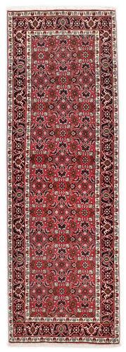Noué à la main. Origine: Persia / Iran 66X197 Tapis Bidjar D'orient Fait Main Tapis Couloir Rouge Foncé/Gris Clair (Laine, Perse/Iran)