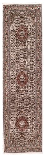 Noué à la main. Origine: Persia / Iran 80X300 Tapis D'orient Tabriz 50 Raj Sherkat Farsh Tapis Couloir Rouge Foncé/Gris Clair (Laine/Soie, Perse/Iran)