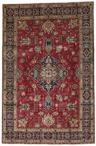 Noué à la main. Origine: Persia / Iran 198X304 Tapis Tabriz D'orient Fait Main Rouge Foncé/Marron Clair (Laine, Perse/Iran)