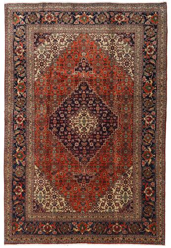 Noué à la main. Origine: Persia / Iran 205X305 Tapis Tabriz D'orient Fait Main Rouge Foncé/Marron Clair (Laine, Perse/Iran)